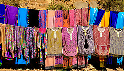 Garments for sale from a stall in the Todra Gorge, Morocco<br /> <br /> (c) Andrew Wilson | Edinburgh Elite media