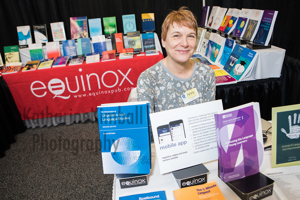 American Association of Applied Linguistics (AAAL) Conference at Marriott Downtown Portland, OR. Equinox Publishing booth
