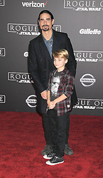 December 10, 2016 - Los Angeles, California, United States - December 10th 2016 - Los Angeles California USA - Singer KEVIN RICHARDSON, Son MASON RICHARDSON at the World Premiere for ''Rogue One Star Wars'' held at the Pantages Theater, Hollywood, Los Angeles  CA (Credit Image: © Paul Fenton via ZUMA Wire)