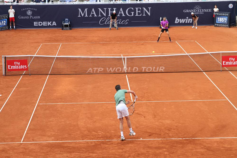 Tennis: Rothenbaum, German Open 2017, Hamburg, 23.07.2017<br /> Manhagen Classics: Michael Stich (GER) - Tommy Haas (GER)<br /> © Torsten Helmke