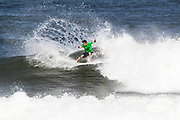 Elijah Gates of Hawaii advances to round two after placing first in round one heat 5 'Äãof the 2018 Hawaiian Pro at Haleiwa, Oahu, Hawaii, USA.