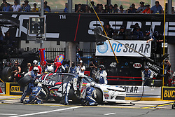 May 26, 2018 - Concord, North Carolina, United States of America - Jamie McMurray (42) brings his car down pit road for service during the Alsco 300 at Charlotte Motor Speedway in Concord, North Carolina. (Credit Image: © Chris Owens Asp Inc/ASP via ZUMA Wire)