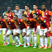 Galatasaray's players during their UEFA Champions League Round of 16 First leg soccer match Galatasaray between Chelsea at the AliSamiYen Spor Kompleksi in Istanbul, Turkey on Wednesday 26 February 2014. Photo by Aykut AKICI/TURKPIX