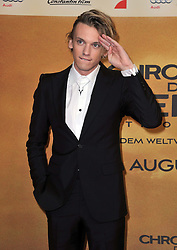 Jamie Campbell Bower  arrives for the 'The Mortal Instruments: City of Bones' Germany premiere at Sony Centre on Tuesday August 20, 2013 in Berlin, Germany. Photo by Schneider-Press / John Farr / i-Images. <br /> UK & USA ONLY