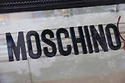 Sign for high end fashion and exclusive brand Moschino.