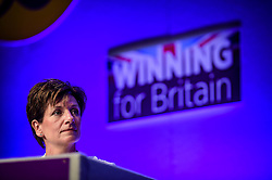 Ukip leader Diane James listens to Douglas Carswell speak at the UKIP conference in Bournemouth.