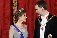 030215 Spanish Royals Gala Dinner with President of Colombia and wife