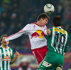 20.02.2011, Red Bull Arena, Salzburg, AUT, 1. FBL, Red Bull Salzburg vs Rapid Wien, im Bild Franz Schiemer, (FC Red Bull Salzburg, Verteidiger, #15), Jan Vennegoor Of Hesselink, (SK Rapid Wien, #10) // during the Austrian Bundesliga Match, Red Bull Salzburg vs Rapid Wien at Red Bull Arena, Salzburg, 20/02/2011, EXPA Pictures © 2011, PhotoCredit: EXPA/ J. Feichter