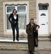 Music producers Anthony (Tony) Wilson and his partner Yvette Livesey visiting a project in Accrington, Lancashire to show off urban regeneration in the town, where houses are being renovated for residents. The were consultants to the project. Tony Wilson was diagnosed with cancer in 2007 and had a kidney removed during his treatment for the disease.