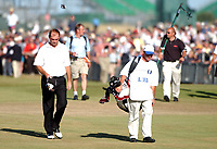 Thomas Bjorn (Denmark walks up the 18th Fairway after blowing his chance in the 16th bunkers. The Open Golf Championship, Royal St.Georges, Sandwich, Day 4, 20/07/2003. Credit: Colorsport / Matthew Impey DIGITAL FILE ONLY