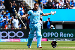 Jonny Bairstow of England celebrates reaching 100 against India - Mandatory by-line: Robbie Stephenson/JMP - 30/06/2019 - CRICKET - Edgbaston - Birmingham, England - England v India - ICC Cricket World Cup 2019 - Group Stage