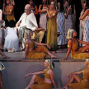 Scene from the opera Aida at Dalhalla, Dalarna, Sweden.