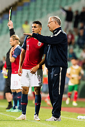 September 9, 2018 - Sofia, BULGARIA - 180909 Mohamed Elyounoussi of Norway and Lars LagerbÅck, head coach of Norway, during the Nations League match between Bulgaria and Norway on September 9, 2018 in Sofia..Photo: Jon Olav Nesvold / BILDBYRN / kod JE / 160311 (Credit Image: © Jon Olav Nesvold/Bildbyran via ZUMA Press)