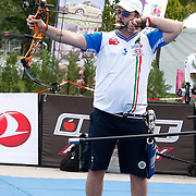Sergio PAGNI (ITA) competes in Archery World Cup Final in Istanbul, Turkey, Saturday, September 24, 2011. Photo by TURKPIX