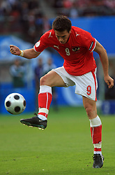 Roland Linz of Austria during the UEFA EURO 2008 Group B soccer match between Austria and Croatia at Ernst-Happel Stadium, on June 8,2008, in Vienna, Austria.  (Photo by Vid Ponikvar / Sportal Images)