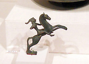 Scythian bronze statuette of a mounted archer, Etruscan, Campanian. early 5th century B.C.
