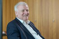 01 JUL 2019, BERLIN/GERMANY:<br /> Horst Seehofer, CSU, Bundesinnenminister, waehrend einem Interview, in seinem Buero, Bundesministerium des Inneren<br /> IMAGE: 20190701-01-018<br /> KEYWORDS: Büro
