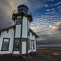 Sunset at Point Cabrillo Lighthouse, Mendocino County, California