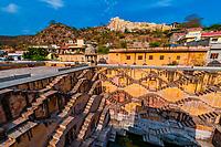 Panna Meena Ka Kund step well, (baori), Amer (near Jaipur), Rajasthan, India.