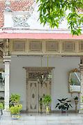 Plants and decoration, the Kraton of Yogyakarta, Yogyakarta, Yogyakarta Special Region, Java, Indonesia, Southeast Asia