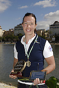 Seville. SPAIN, 18.02.2007, SWE W1X Frida SVENSSON after winning the woen's single on both days, posing after  Sundays final, at the FISA Team Cup, held on the River Guadalquiver course. [Photo Peter Spurrier/Intersport Images]    [Mandatory Credit, Peter Spurier/ Intersport Images]. , Rowing Course: Rio Guadalquiver Rowing Course, Seville, SPAIN,