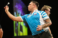 Gerwyn Price during the 2018 Grand Slam of Darts at Aldersley Leisure Village, Wolverhampton, United Kingdom on 16 November 2018. Picture by Shane Healey.