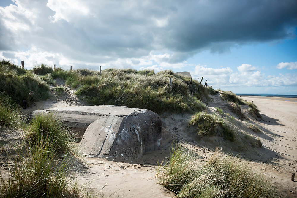 A German World War II bunker on Utah Beach, one of the D-Day landing sites on June 6, 1944, in Normandy, France