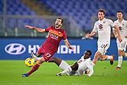 Foto Fabio Rossi/AS Roma/LaPresse<br /> 17/12/2020 Roma (Italia)<br /> Sport Calcio<br /> Roma-Torino<br /> Campionato Italiano Serie A TIM 2020/2021 - Stadio Olimpico<br /> Nella foto: Henrikh Mkhitaryan, Singo<br /> <br /> Photo Fabio Rossi/AS Roma/LaPresse<br /> 17/12/2020 Rome (Italy)<br /> Sport Soccer<br /> Roma-Torino<br /> Italian Football Championship League Serie A Tim 2020/2021 - Olimpic Stadium<br /> In the pic: Henrikh Mkhitaryan, Singo