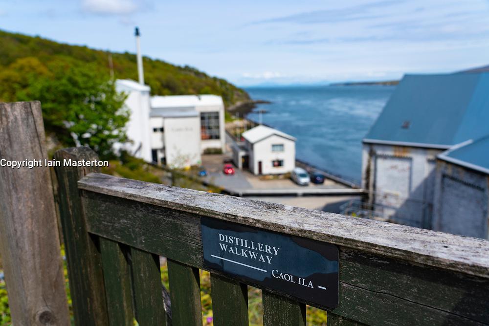 Exterior view of Caol Ila scotch whisky distillery on Islay , Inner Hebrides , Scotland, UK