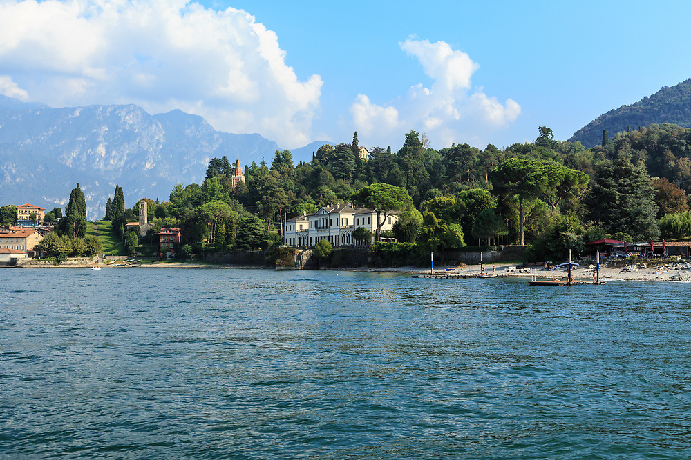 Villa Trivulzio on Lago di Como in Italy. Villa Trivulzio was built by the lake in the second half of the eighteenth century. Today it is a private residence.