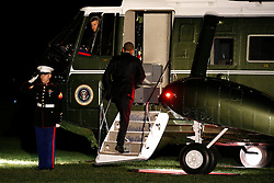 November 14, 2016 - Washington, District of Columbia, United States of America - US President Barack Obama boards Marine One on the South Lawn of the White House in Washington, DC, USA, 14 November 2016. President Obama is traveling overseas to Greece, Germany and Peru..Credit: Shawn Thew / Pool via CNP (Credit Image: © Shawn Thew/CNP via ZUMA Wire)
