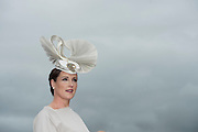 30/07/2015 report free : Winners Announced in Kilkenny Best Dressed Lady, Kilkenny Best Irish Design & Kilkenny Best Hat Competition at Galway Races Ladies Day <br /> At the event was Milliner Caitriona King from Corofin.<br /> Photo:Andrew Downes, xposure