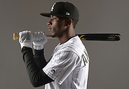 GLENDALE, ARIZONA - FEBRUARY 21:  Tim Anderson #7 of the Chicago White Sox poses for a portrait during White Sox photo day on February 21, 2019 at Camelback Ranch in Glendale Arizona.  (Photo by Ron Vesely)  Subject:  Tim Anderson