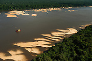 Gold Dredger<br /> Essequibo River<br /> Iwokrama<br /> Rurununi<br /> GUYANA<br /> South America<br /> Longest river in Guyana