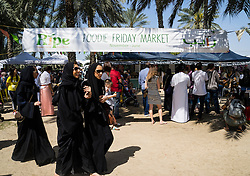 Weekend organic food market in Al Safa Park in Dubai United Arab Emirates