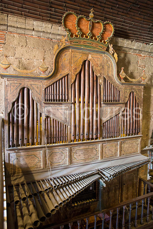 The Las Pinas Bamboo Organ in St. Joseph Parish Church in Las Piñas City, the Philippines. The unique organ was declared a National Cultural Treasure in 2003.