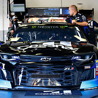 February 10, 2018 - Daytona Beach, Florida, USA: The car of Jamie McMurray (1) sits in the garage before practice for the Advance Auto Parts Clash at Daytona International Speedway in Daytona Beach, Florida.
