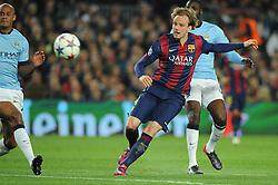 Barcelona's Ivan Rakitic takes a shot at goal. - Photo mandatory by-line: Dougie Allward/JMP - Mobile: 07966 386802 - 18/03/2015 - SPORT - Football - Barcelona - Nou Camp - Barcelona v Manchester City - UEFA Champions League - Round 16 - Second Leg