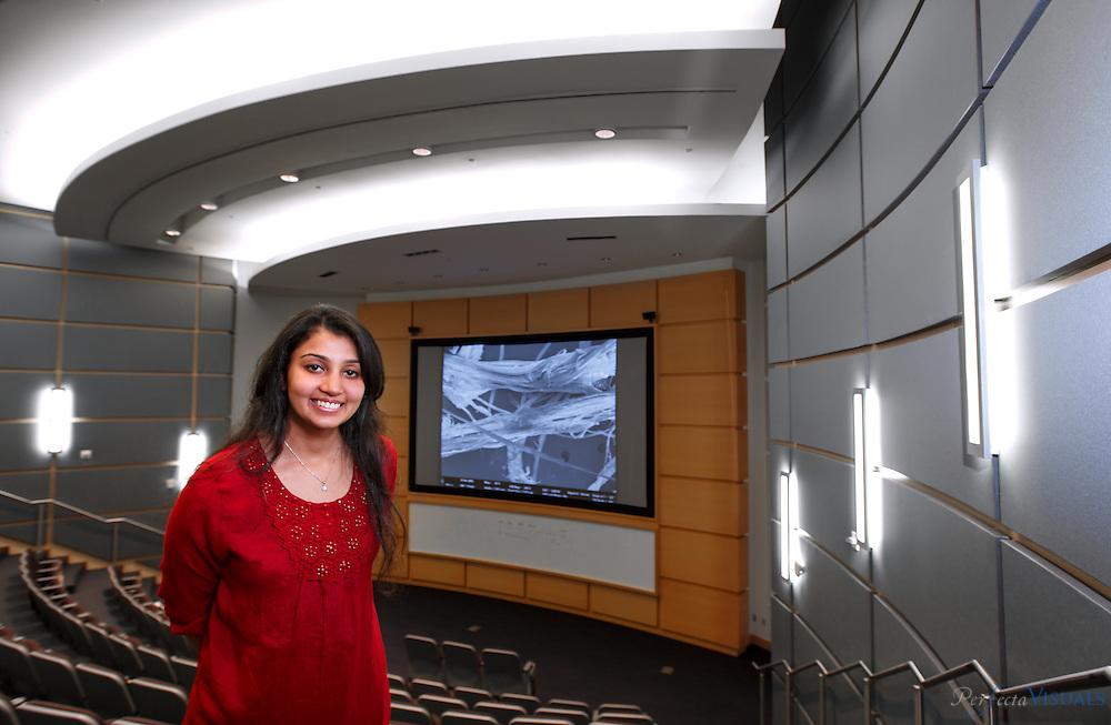 Priyanka Ruparelia at the Joint School of Nanoscience and Nanoengineering in Greensboro, NC. JERRY WOLFORD and SCOTT MUTHERSBAUGH / Perfecta Visuals