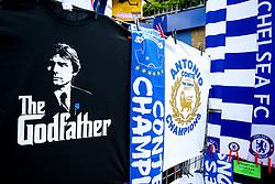 Champion tshirts in honour of Manager Antonio Conte  outside the stadium to celebrate Chelsea's 2016/17 Premier League win - Rogan Thomson/JMP - 21/05/2017 - FOOTBALL - Stamford Bridge - London, England - Chelsea v Sunderland - Premier League..