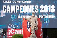 Atletico de Madrid celebrating Europa League Championship at Neptune Fountain in Madrid, Spain. May 18, 2018. (ALTERPHOTOS/Borja B.Hojas)