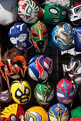 collection of wrestling masks