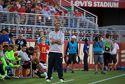 SANTA CLARA, USA - Saturday, July 30, 2016: Liverpool's manager Jürgen Klopp during the International Champions Cup 2016 game against AC Milan on day ten of the club's USA Pre-season Tour at the Levi's Stadium. (Pic by David Rawcliffe/Propaganda)