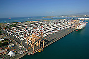 Sand Island, freight terminal, Honolulu, Oahu, Hawaii
