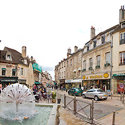 Wide-screen panorama of Beaune in Bourgogne (Burgundy) France