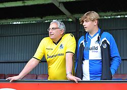 Bristol Rovers supporters at the Viridor Stadium - Mandatory by-line: Paul Knight/JMP - 18/07/2017 - FOOTBALL - Viridor Stadium - Taunton, England - Taunton Town v Bristol Rovers XI - Pre-season friendly