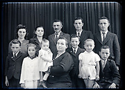 large family group studio portrait France circa 1930s