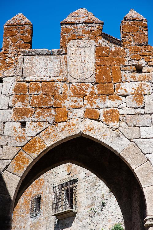 Medieval arch in Trujillo (Spain)