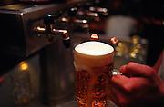 """Ein frisch gezapftes, tschechisches Bier. Aufgenommen in der Prager Szenekneipe """"Zum ausgeschossenen Auge"""" (U vystrelenyho Oka) im Stadtteil Zizkov/Prag 3. <br /> <br /> A fresh draught Czech beer. Photographed in the Prague pub """"To the shoot out eye"""" (U vystrelenyho Oka) in the quarter Zizkov/Prague 3."""