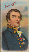 'Field Marshal Arthur Wellesley, 1st Duke of Wellington (1769-1852) Anglo-Irish British soldier and statesman.  Defeated Napoleon I at Battle of Waterloo 1815. Prime Minister 1828-1830.  Chromolithograph.'